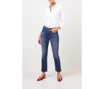Klassische Baumwoll-Bluse Weiß