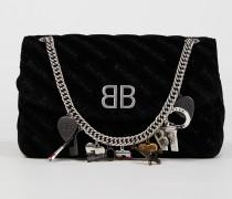Umhängetasche 'BB Bag' mit Souvenir-Charms Black Schwarz