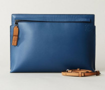 Clutch mit Applikation 'T Pouch' Multi - Leder
