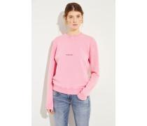 Sweatshirt mit Logo-Aufdruck Rosé/Schwarz
