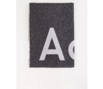 Woll-Schal 'Toronty Logo' Schwarz/Grau