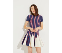Strick-Kleid mit ausgestelltem Saum Multi