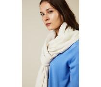 Woll-Seiden-Schal mit Jaquard Créme