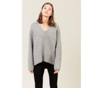 Oversize Woll-Pullover 'Deborah' Grau