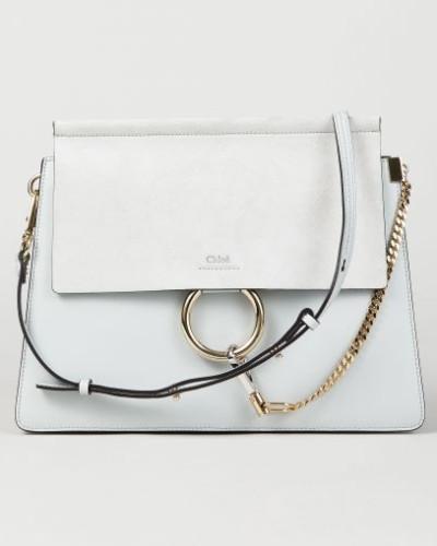 Online Kaufen Chloé Damen Veloursleder-Schultertasche 'Faye Medium' Airy Grey - Leder Rabatt Ausgezeichnet qTFcg