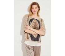 Baumwoll-Pullover 2-teilig mit Paillettendetails Multi