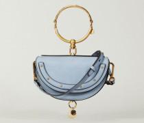 Clutch 'Nile Minaudiere' Washed Blue - Leder
