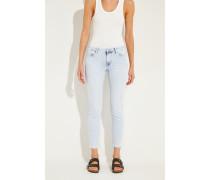 Jeans 'Pyper Cropped' mit Verzierung Blau