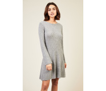 Woll-Cashmere Strickkleid Grau