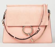 Veloursleder-Schultertasche 'Faye Medium' Ideal Blush - Leder