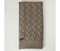 Cashmere-Schal 'Arosa' mit Zopfmuster Taupe - Cashmere