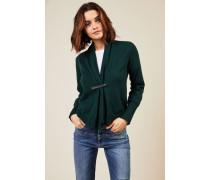 Woll-Seiden-Cardigan Grün - Cashmere