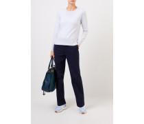 Cashmere-Pullover mit Schlitzen Hellblau