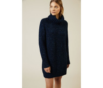 Cashmere-Kleid 'Nevis' Blau meliert - Cashmere