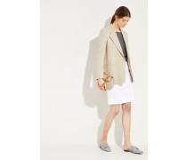 Kurzer Rock mit Perlenverzierung Weiß 97% Baumwolle - 3% Elasthan Futter: -