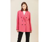 Seiden-Woll-Blazer Pink