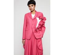 Blazer mit Rüschendetail Pink
