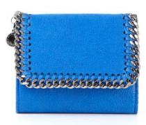 Kleines Portemonnaie mit Ketten-Detail Blau
