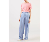 Cashmere Shirt Halbarm Coral