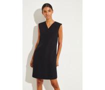 Klassisches Kleid mit V-Neck Schwarz