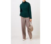 Woll-Cashmere-Pullover mit Turtleneck Grün