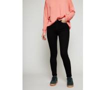 Skinny Jeans 'Peg' Schwarz
