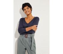 Cashmere-Seiden-Pullover Blau