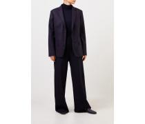Klassischer Woll-Blazer Marineblau