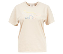T-Shirt 'Rainbow Profile Foxy' Beige