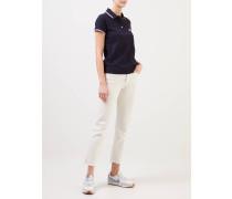 Klassisches Poloshirt mit Details Navy/Weiß