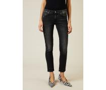 Jeans 'Pyper Crop Slim Illusion' Anthrazitgrau
