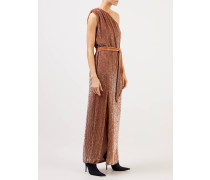 Paillettenkleid 'Vivien' One Shoulder Bronze