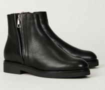 Stiefelette 'Zelinda Fur 100' Schwarz - Leder