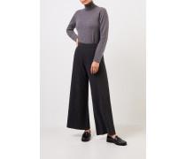 Cashmere-Pullover mit Turtleneck Grau