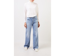 Woll-Cashmere-Pullover mit Turtleneck Weiß