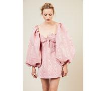 Gestreiftes Mini-Kleid Pink