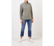 Cashmere-Pullover mit Turtleneck Salbei