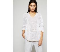 Baumwollgemisch Pullover Grau