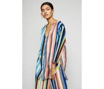 Tunika 'V-Neck Tied Mini Dress' Multi - Seide