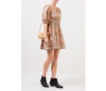 Leinen-Kleid 'Freja' mit Paisleymuster Multi
