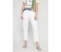 Premium Vintage Slim Fit Boyfriend 'Emmerson' Soft White - 100% Baumwolle