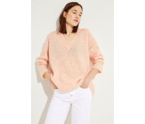Oversize Mohair-Woll-Pullover Rosé