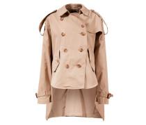 Trench Coat aus Gabardine Beige