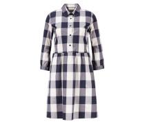 Hemdkleid mit Karos Blau/Weiß