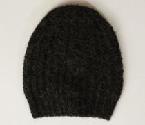 Grobstrick-Mütze Grün - Alpaca