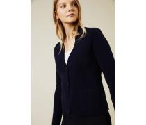 Doubleface Cashmere-Blazer 'Dali' Marineblau - Cashmere