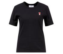 T-Shirt mit Logo-Patch Schwarz