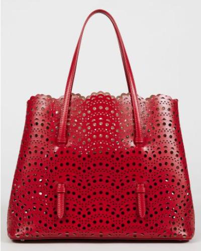 Tasche 'Min. Vienne' gestanztes Leder Rot - Leder