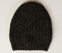 Grobstrick-Mütze Braun - Alpaca