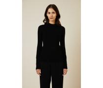 Pullover mit Knopfdetails Schwarz